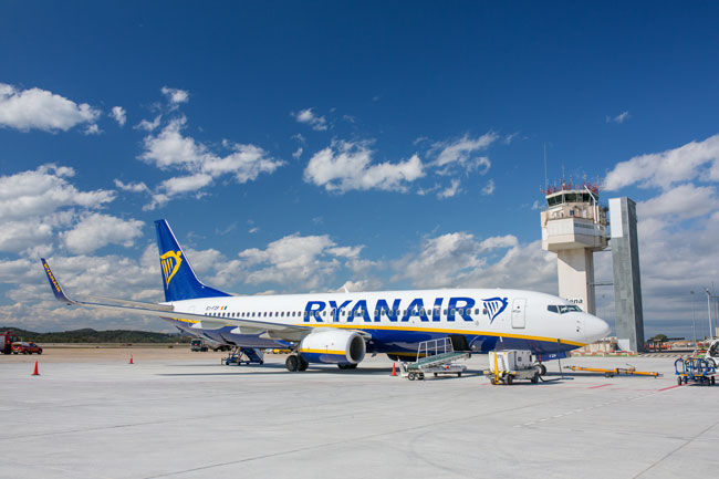 Ryanair is the main airline in Girona Airport.